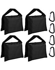 ABCCANOPY Sandbag Saddlebag Photography Weight Bags for Video Stand,4 Packs (Black)