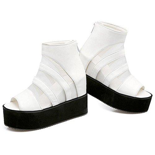 Femmes Augmentation Sandales 28 White Taoffen g8qUOq