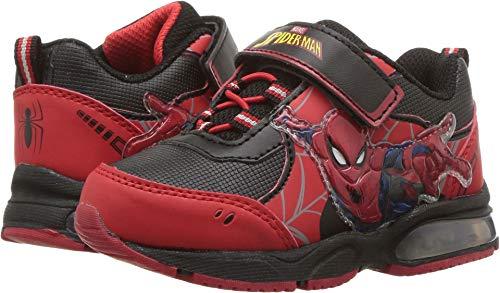 Disney Kids Spider Man Lighted RED Black Size 7 -