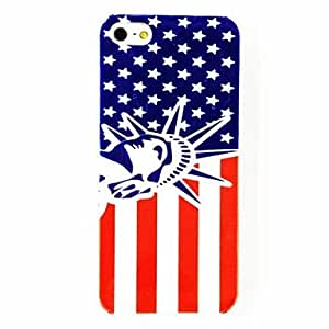 GJYPunk The United States National Flag Status of Freedom Pattern Plastic Hard Case for iPhone 4/4S , Multicolor