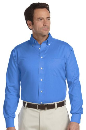 Chestnut Hill Men's Executive Pinpoint Pocket Oxford Shirt_FRENCH ()