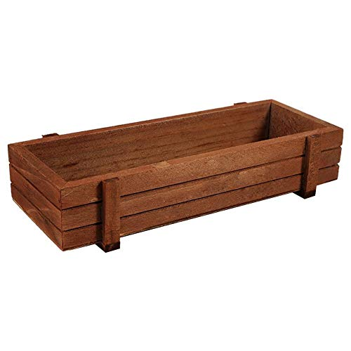 Nannday Planter Box, Wooden Flower Succulent Rectangle Storage Box for Home Garden Indoor/Outdoor ()