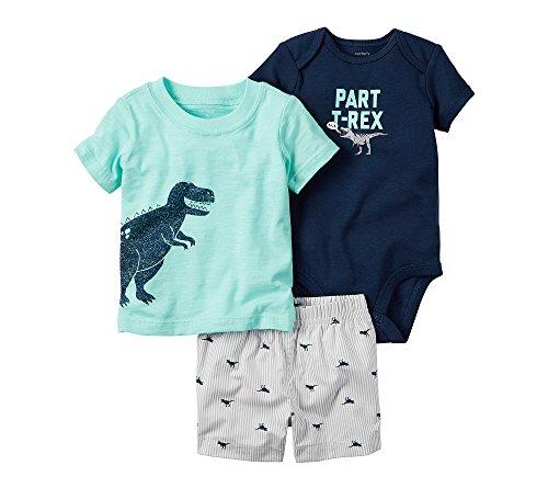 Carter's Baby Boys Diaper Cover Sets 121h169, Mint, 9M (Boys Diaper Shirt)
