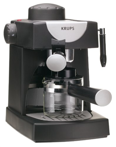 Platinum Small Coffee Pot - KRUPS FND111 Allegro Espresso Maker, black