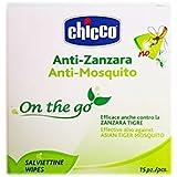 Chicco Salviettine Monouso Anti-Zanzara, Anti-Mosquito, 15 Pezzi, Bianco