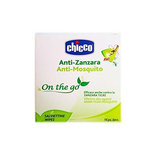 5 opinioni per Chicco Salviettine Monouso Anti-Zanzara, Anti-Mosquito, 15 Pezzi, Bianco