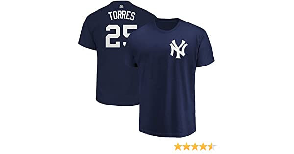 premium selection 110a8 d9152 Outerstuff Gleyber Torres New York Yankees #25 Navy Blue Youth Name &  Number Jersey T-Shirt