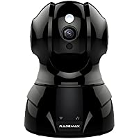 Rademax Wireless Camera, Pan/Tilt/Zoom Baby Monitor IP WiFi Surveillance Camera HD 720P Nanny Cam with Motion Detection Two Way Audio and Night Vision