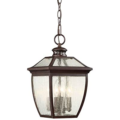 Minka-Lavery 72524-246 Sunnybrook Outdoor Pendants for Patios, 4-Light 240 Watts, Alder Bronze