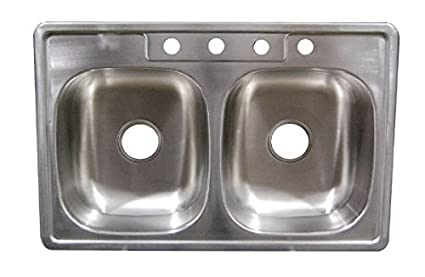 33 X 19 X 6 Deep Stainless Steel Kitchen Sink For Mobile