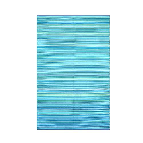 Smart Design SMM006 Indoor/Outdoor Plastic Rugs- (Blue,6x9) (Rugs Outdoor Patios Plastic)