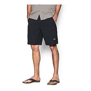 Under Armour Men's Fish Hunter Cargo Shorts, Black/Amalgam Gray, 34