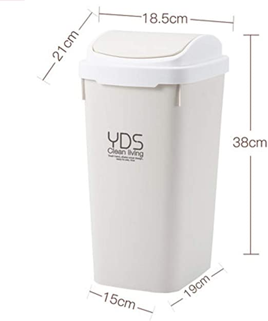 Home Kitchen Plastic Waste Dustbin Rubbish Garbage Bin Bathroom Toilet Trash Can