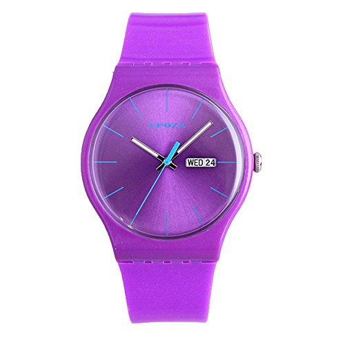 [Epozz Student Sprotl Rubber Band Simple Wrist Watch Waterproof purple] (Man Of The Nights Watch Costume)