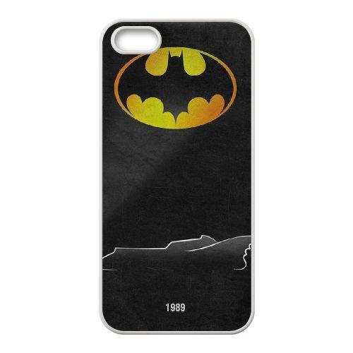 Batman Batmobile coque iPhone 4 4S Housse Blanc téléphone portable couverture de cas coque EBDOBCKCO09586