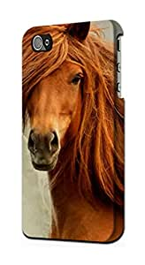 E1595 Beautiful Brown Horse Funda Carcasa Case para IPHONE 4 4S