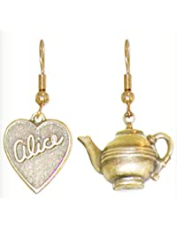 Alice in Wonderland Tea Party Earrings, Quality Made in USA!