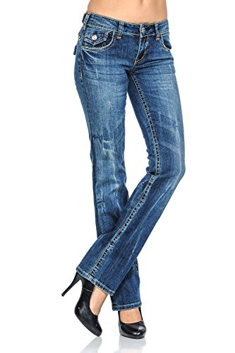 VIRGIN ONLY Women's Slim Fit Stretch Denim Straight Leg Jeans (3658 Denim, Size (Low Rise Straight Jeans)