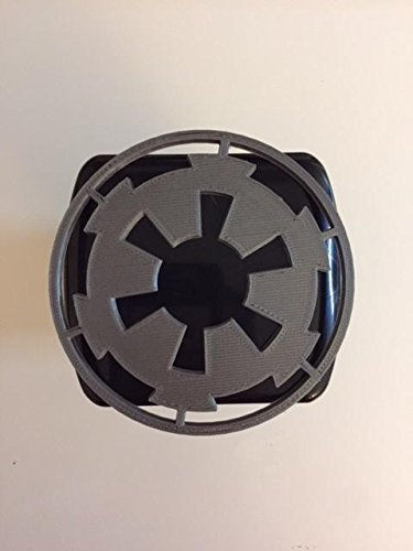 Imperial Logo in 3d - 2 inch Trailer Hitch Cover Black with Grey - Star Wars Style Rebel Alliance LicensePlateFreak