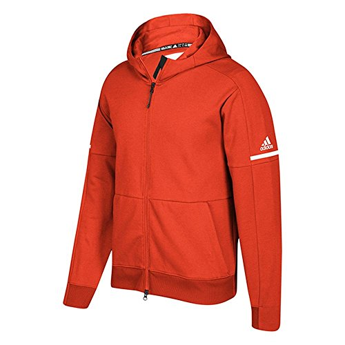 Felpa Con Cappuccio Adidas Full Zip Con Cappuccio Scolpita Id Adidas Collegiata Arancione-bianca