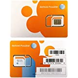 AT&T SIM Card, Compatible with Prepaid (GoPhone) and Postpaid AT&T Cellular Service (Universal, Triple Cut 3-in-1)