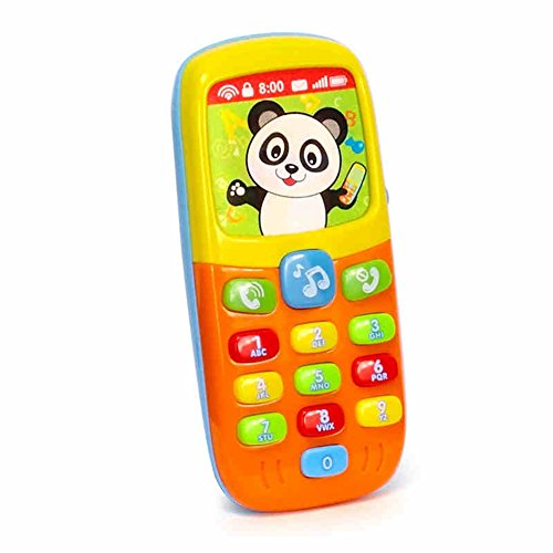 Geefia Smart Musical Moble Phone Toy for Kids Education Toys with Music and Light (Music Education Toys)