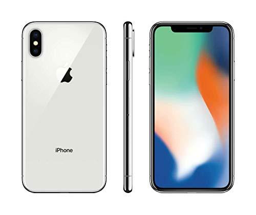 Apple iPhone X, 256GB, Silver - For Verizon (Renewed)
