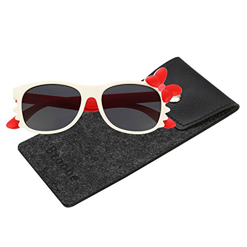 Brooben Flexible Kids Sports Sunglasses Polarized Glasses for Junior Boys Girls Age 3-15 - Sunglasses Uvb Uva