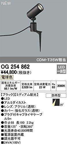 ODELIC(オーデリック) LEDスパイクスポットライト エクステリア 防雨型 ミディアム配光 電球色 OG254862 B07DQH5ZN9 20320