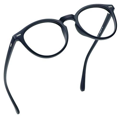LifeArt Blue Light Blocking Glasses, Anti Eyestrain, Computer Reading Glasses, Gaming Glasses, TV Glasses for Women, Anti Glare(Navy, 4.00 Magnification)