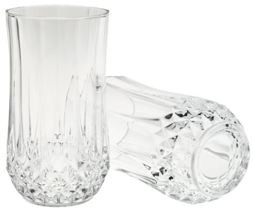 Water Arc - Arc International Set of 4 Cristal D'Arques Longchamp Tumbler, 12-Ounce