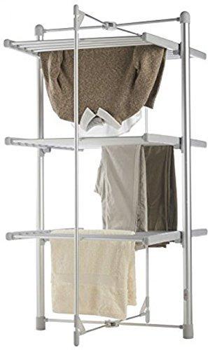 Ted tendedero secador de tendedero secador de ropa con Ai eléctrico ropa de undry calor es de secado Rack plegable Dr R indoo 3 Tier interior.