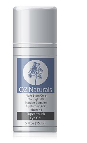 OZ Naturals - Le Eye Gel Best - Crème contour des yeux pour Dark Circles poches et les rides - ce traitement Eye Gel Adresses tous les yeux Concern - 100% d'ingrédients naturels - considéré comme le Gel pour les yeux plus puissant et efficace - Crème pour
