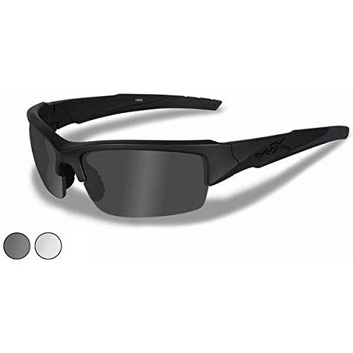 Wiley X CHVAL06 Valor, Matte Black Frame, Smoke Gray/Clear Lens