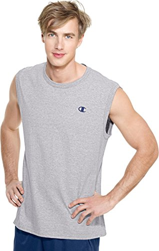 Champion Cotton Jersey Men's Muscle T-Shirt_Oxford Grey_X-Large