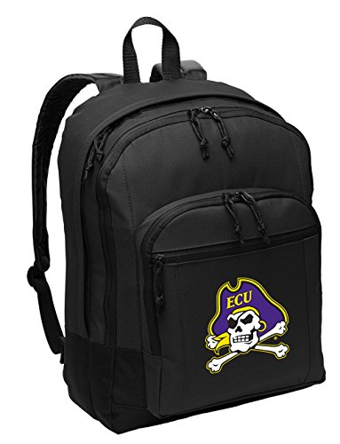 Broad Bay East Carolina University Backpack Classic Style ECU Backpack Laptop Sleeve