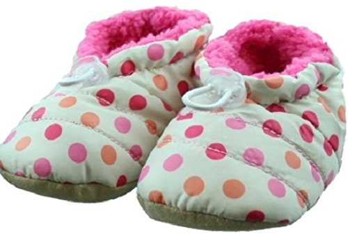Skidders Puffy Booties Baby Boots Girls, 1 Pack - Girls - Pink & White Polka Dot, 12M