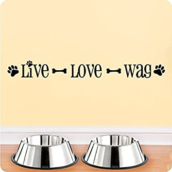 Amazoncom 24 Live Love Wag Dog Pet Wall Decal Sticker Art Mural - home decor quotes on wall