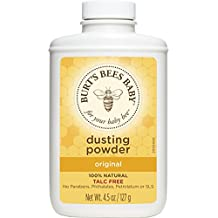 Burt's Bees Baby 100% Natural Dusting Powder, Talc-Free Baby Powder - 4.5 Ounce Bottle