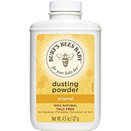Burt\'s Bees Baby 100% Natural Dusting Powder, 4.5 Ounces (Pack of 3) (Packaging May Vary)