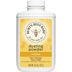Burt's Bees Baby 100% Natural Dusting Powder, 4.5 Ounces (Pack of 3) (Packaging May Vary)