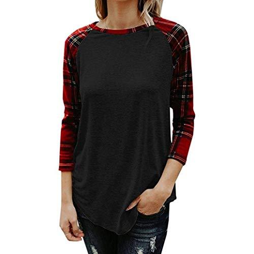 Cn Zhrui Suk 6 Gris demi Blanc Blouses carreaux T femmes à manches couleur Blouse Taille Pullover pour Jerseys shirt Blouse TaTxrS