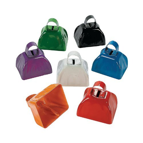 Assorted School Color Cowbells (1 dozen) - Bulk (Party City Utah)