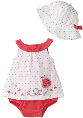Little Me Baby-girls Newborn Ladybug Popover with Hat
