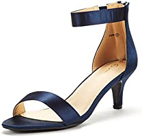 DREAM PAIRS Women's Fiona Fashion Stilettos Open Toe Pump Heeled Sandals