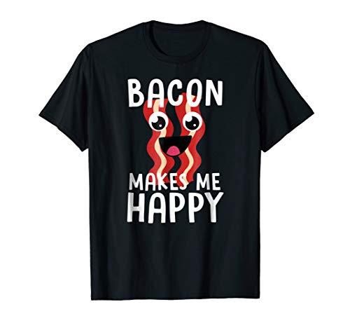 Bacon Lover Shirt Women Men Kids BACON MAKES ME HAPPY Gift