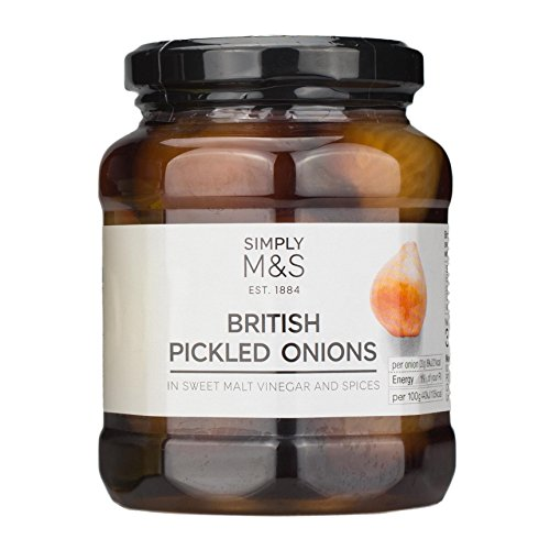 Marks & Spencer M&S British Pickled Onions In Sweet Malt Vinegar and Spices 360g (Onions Sweet Pickled)