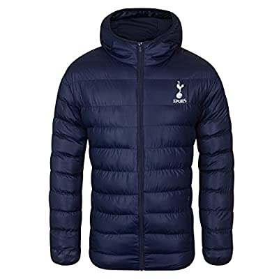 Tottenham Hotspur FC Official Soccer Gift Mens Quilted Hooded Winter Jacket