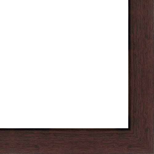 20x40 - 20 x 40 Walnut Flat Solid Wood Frame with UV Framer's Acrylic & Foam Board Backing - Great For a Photo, Poster, Painting, Document, or Mirror by The Frame Shack
