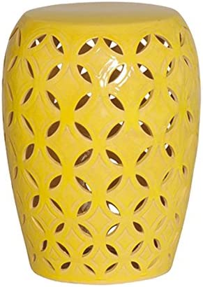 Emissary Home Garden Lattice Stool TBL Yellow